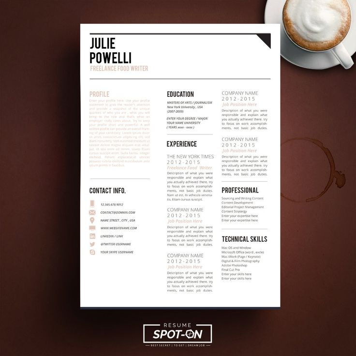 Best Resume Images On   Resume Templates Parlour And