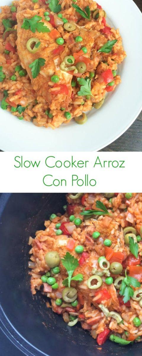 Slow Cooker Arroz Con Pollo - The Lemon Bowl