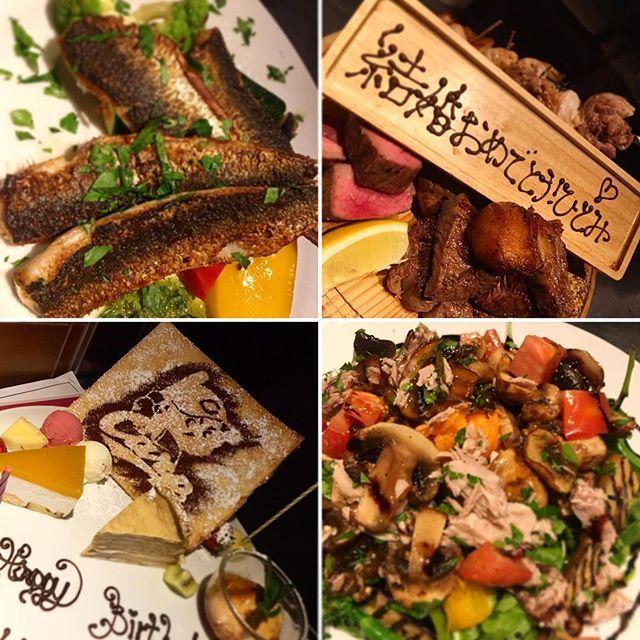 最近のお客様のgoodselection!✨ 《千葉産鰯のソテー 《千葉産鰹をコンフィ(ツナ的な)にしたものを色々野菜に乗せてサラダに! また、最近はお祝い事も多くて感激で御座います!!(*_*)✨ デザートプレートでも!お肉プレートでも。全力でお祝いさせて頂きます!  #陽気なスタッフ #代官山イタリアン #渋谷イタリアン #肉 #グリル #ワイン #隠れ家 #デートに #パスタ #オステリアウララ #osteriaurara #6年目 #ダルマプロダクション  #GW