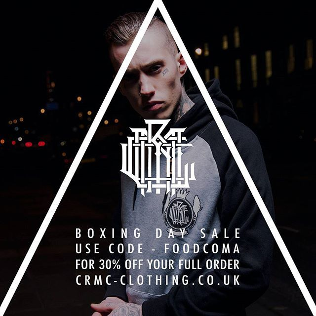 CRMC BOXING DAY SALE Further reductions on many items at www.crmc-clothing.co.uk | WE SHIP WORLDWIDE 🔥 USE DISCOUNT CODE - FOODCOMA - FOR 30% OFF YOUR FULL ORDER. FREE BEANIE with all orders over £60 🔥 #BOXINGDAY #boxingday2016 #boxingdaysale #boxingdaydeals #boxingdayshopping #discounts #sale #foodcoma #discount #alternativegirl #alternativeboy #alternativeteen #blackwear #fashionstatement #altfashion #black #loveblack #fashion #want #freestuff #need #freebies #love #deals