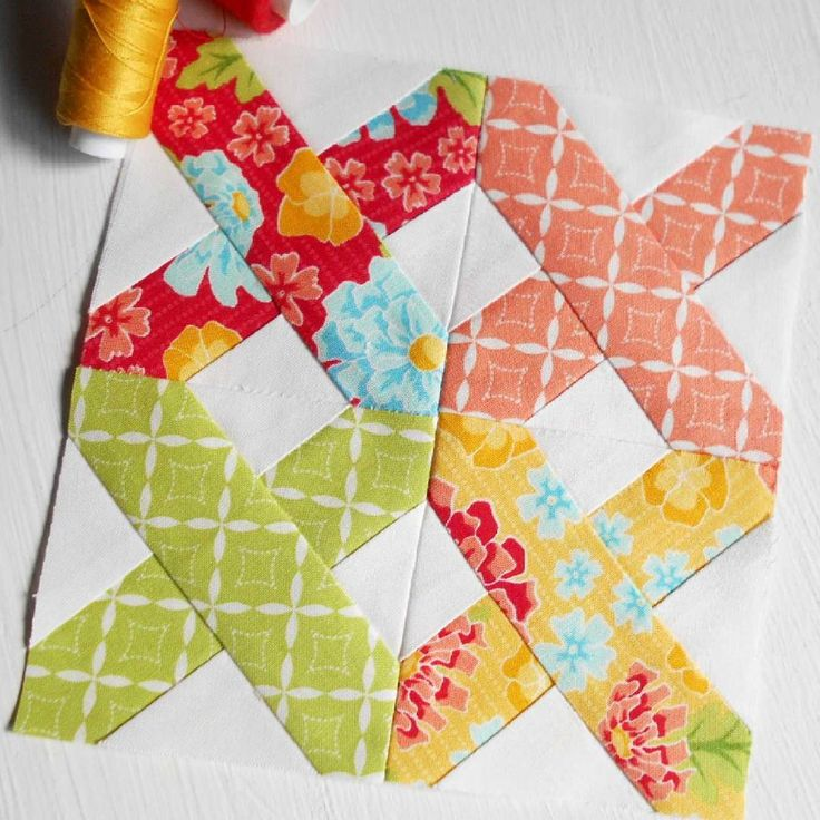 Block 71 - First Stitch. A easy paper-pieced block designed by Very Kerry Berry.  I might just use these fabrics for the last 30 blocks in this sew-along.