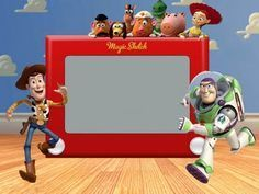 Free Toy Story Etch-A-Sketch Invite Template