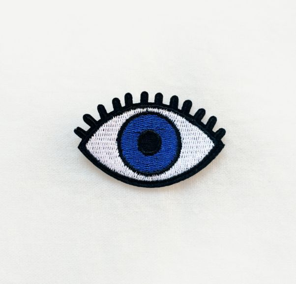 1 Pcs Blue Eye Embroidered Patches Iron On Patches Sewing Applique Badge Clothes…