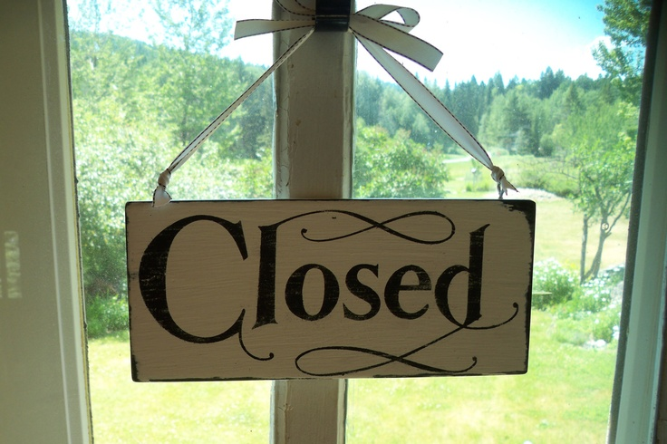 boutique signage | vintage look OPEN CLOSED sign reversible Boutique store front shabby ...