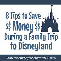 Eight tips to save money during a Disneyland trip!