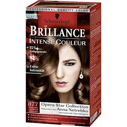 coloration schwarzkopf brillance intense n877 chatain dore neuf - Coloration Schwarzkopf
