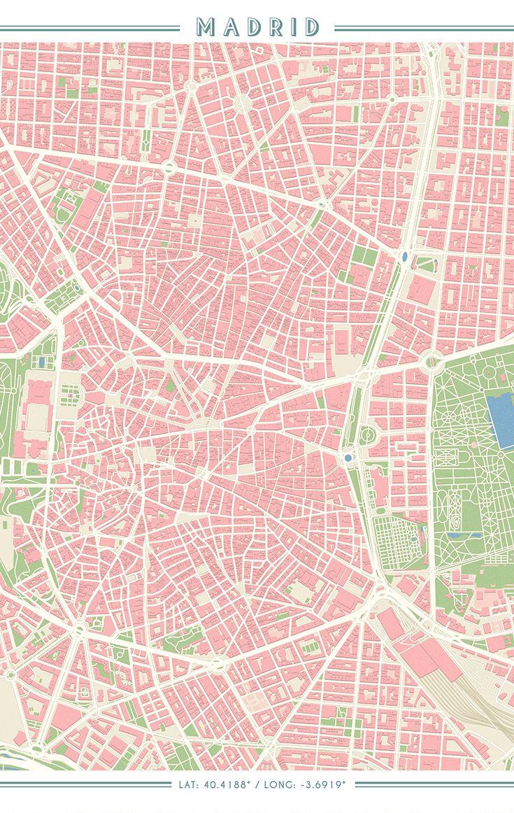 Mejores 10 imágenes de Mapas de ciudades vintage en Pinterest ...
