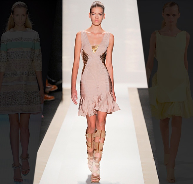 herve leger by max azria - pale curvesFire Spring, Fashion, Herve Leger, Bondage Dresses, Colors, Max Azria, Sexy Pastel, Curves, Boots