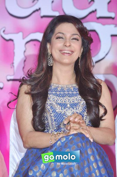 Juhi Chawla at the Press meet of Hindi movie 'Gulaab Gang' at Film City in Mumbai