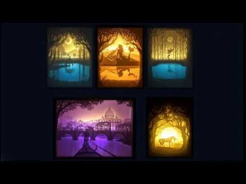 How to make Papercut Light Boxes - YouTube