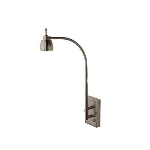 Good LEDs By ZEPPELIN™ Gooseneck LED Wall Light In Satin Nickel Finish | 822 09  · Reading WallLight BedroomLed ... Amazing Pictures