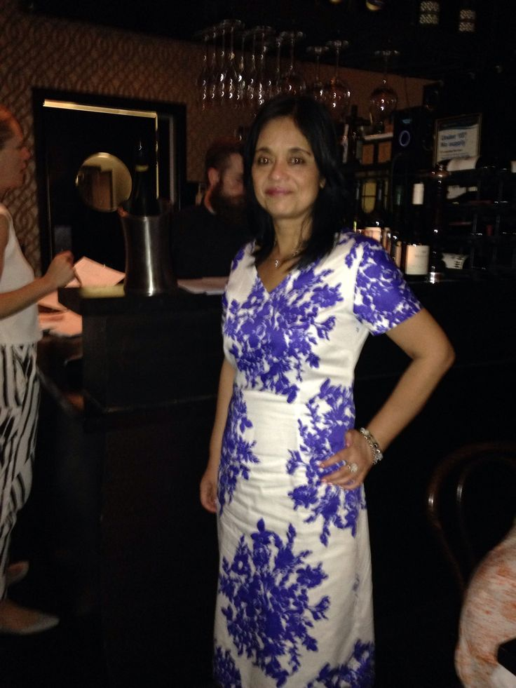 White and blue dress. worn by the gorgeous Sul.