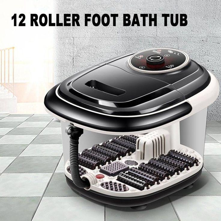 Multifunctional Fully Automatic Electric Roller Feet Basin Heating Foot Tub Foot Massage Machine Foot Spa Bath Massager US Plug