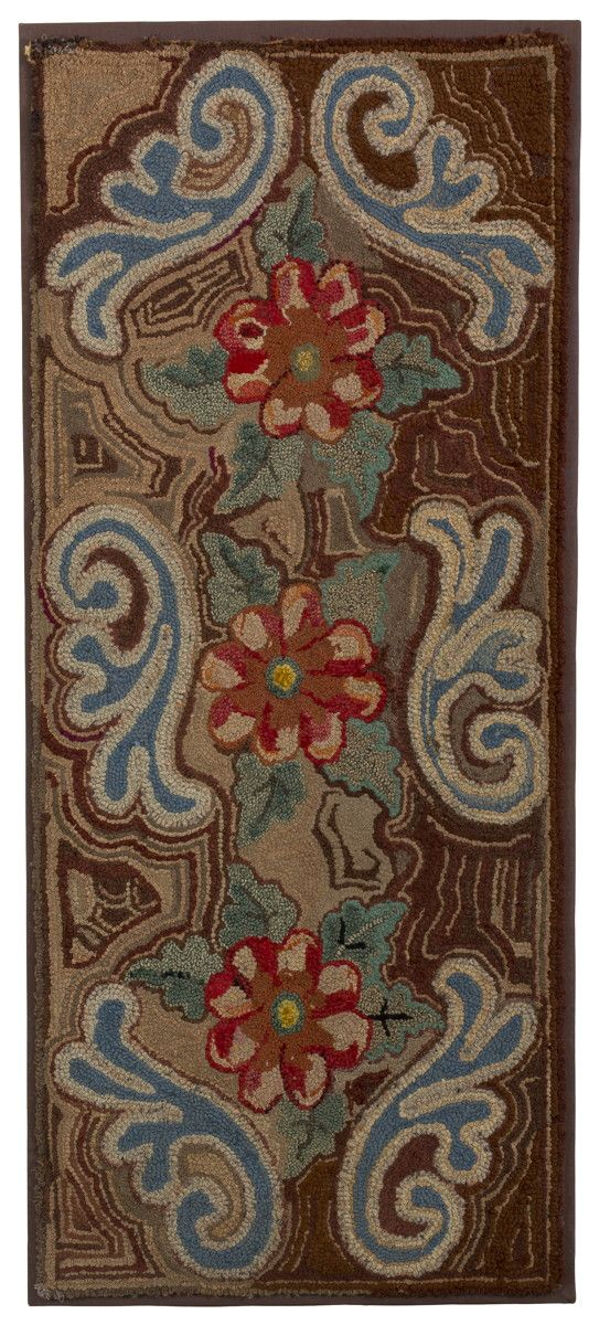 AMERICAN HOOKED AND SHIRRED RUG ~♥~