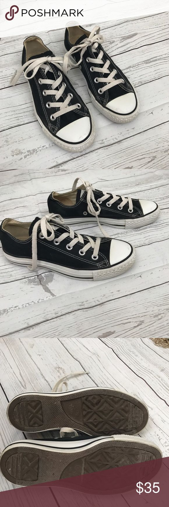 Converse Black Chuck Taylor All Star A classic! Excellent used condition. Minimal but normal wear. See pictures. Small mark on toe...otherwise in great condition!  Retails for $55.. size Men's 4 / Women's 6. No trades, offers welcome Converse Shoes Sneakers