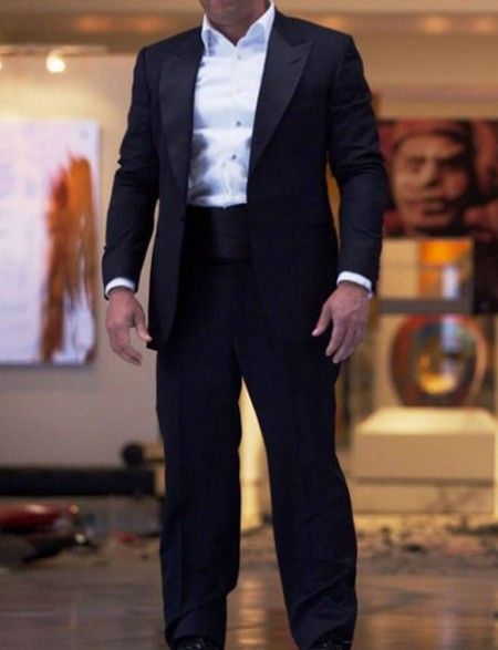 ON SALE - Vin Diesel Midnight Blue Peak Lapel Tuxedo, Crafted Using Supreme Quality Fabric. Now on SALE at Discounted Price + Free Shipping.
