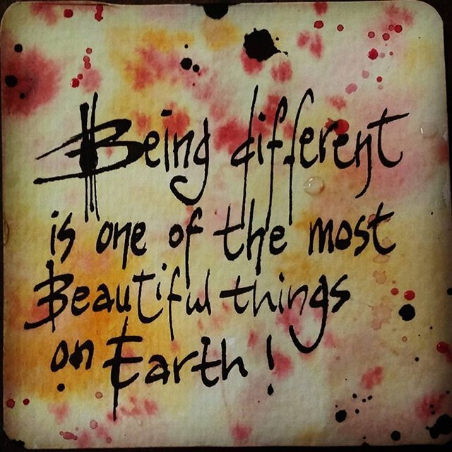 Being different is the most beautiful thing on earth #motivateinspiretoday #iambeautifullikeme #thefiercefemaleforce #motivationalquotes
