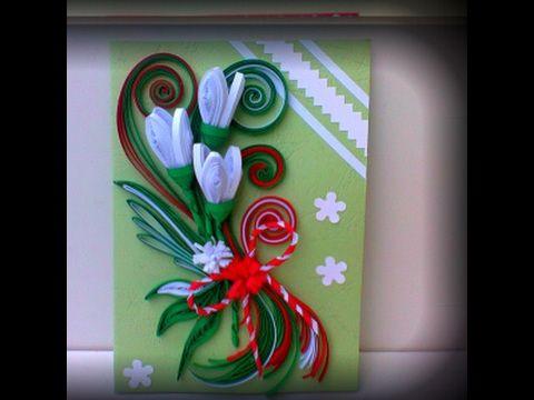 Felicitari quilling de primavara--Quilling cards of spring