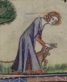 Taymouth Hours, 1325-40 English. Also looks trimmed (or faced?). Side slit.