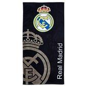 Real Madrid Crest Towel - Black - 75cm x 150cm