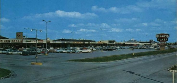 Old Maybe Early 70s Olympia Plaza Shopping Center In
