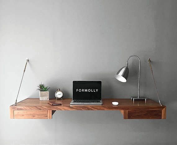 Real Home Inspiration Amazon Floating Desk That Look Beautiful Floating Desk Wall Mounted Desk Wall Mounted Tv
