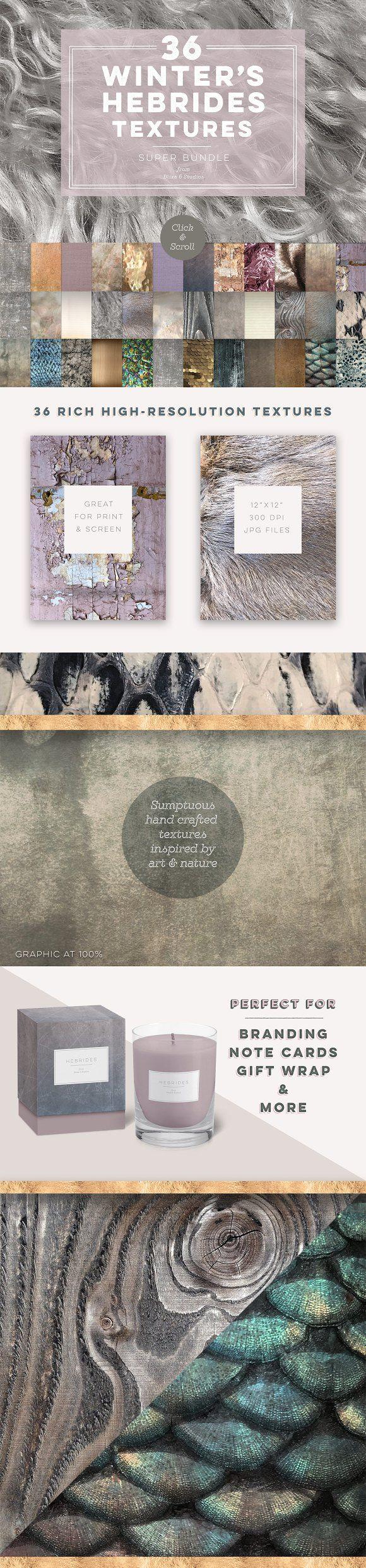 36 Winter's Hebrides Textures - Textures