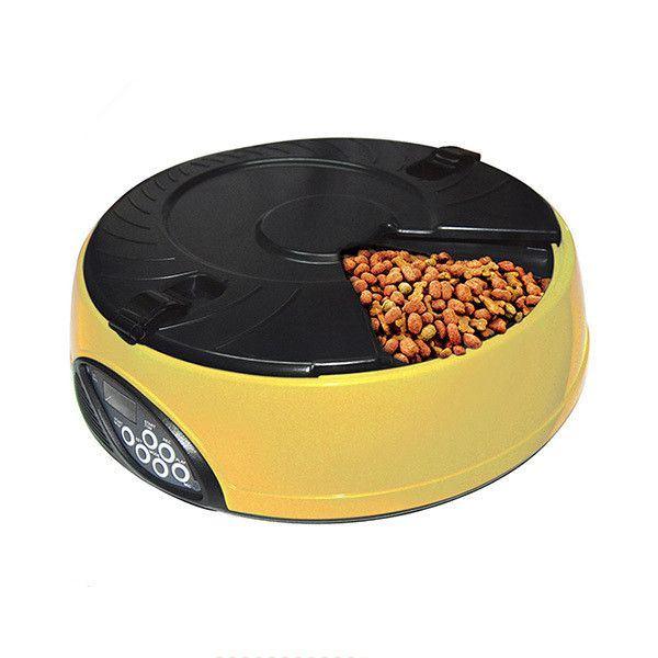 2016 New Creative High Technology ABS Plastic Material Pet's 6 Meal LCD Display Automatic Food Feeder,Reliable Dog Auto-Feeders
