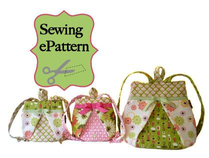 Sew Spoiled Mommy and Me Backpack Sewing Pattern Ebook 2 sizes. $8.00, via Etsy.