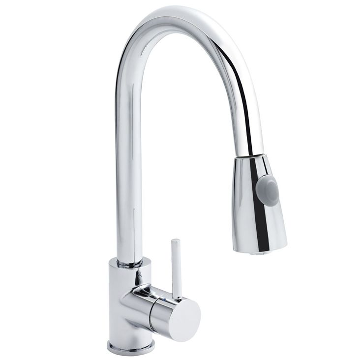 Premier - Side Action Pull Out Rinser Kitchen Tap - KC318 at Victorian Plumbing UK