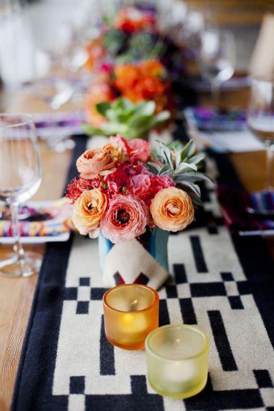 Modern Mexican wedding inspiration: http://www.stylemepretty.com/little-black-book-blog/2014/08/01/modern-mexican-wedding-inspiration/ | Photography: http://lunaphoto.com/#home/: