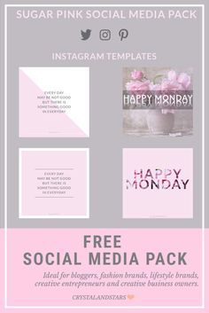 'Sugar Pink' Social Media Pack gives your business a stylish kick with its cute look. It is fully customizable and created in Photoshop. This pack is ideal for bloggers, fashion brands, lifestyle brands, magazines, creative entrepreneurs and creative busi
