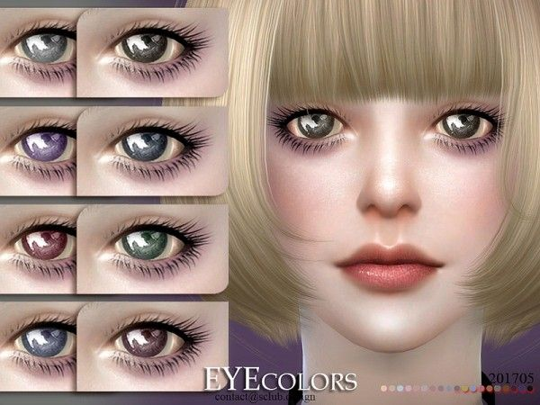 The Sims Resource: Eyecolor 201705 by S-Club • Sims 4 Downloads