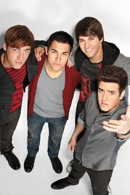 Kendall Schmidt, Carlos Pena Jr., James Maslow and Logan Henderson from BIg Time