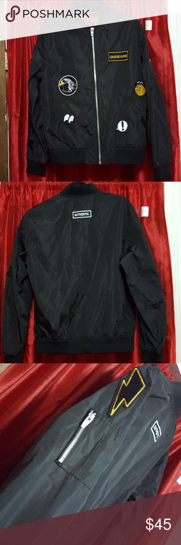 ZARA MAN men's bomber JACKET Black bomber JACKET featuring patches throughout Zara Man Jackets & Coats Bomber & Varsity