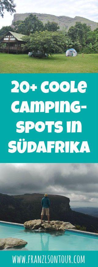 Eine Liste vieler Campingplätze Südafrikas
