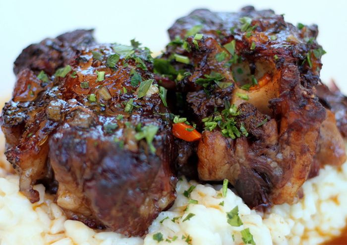 Oxtail with risotto