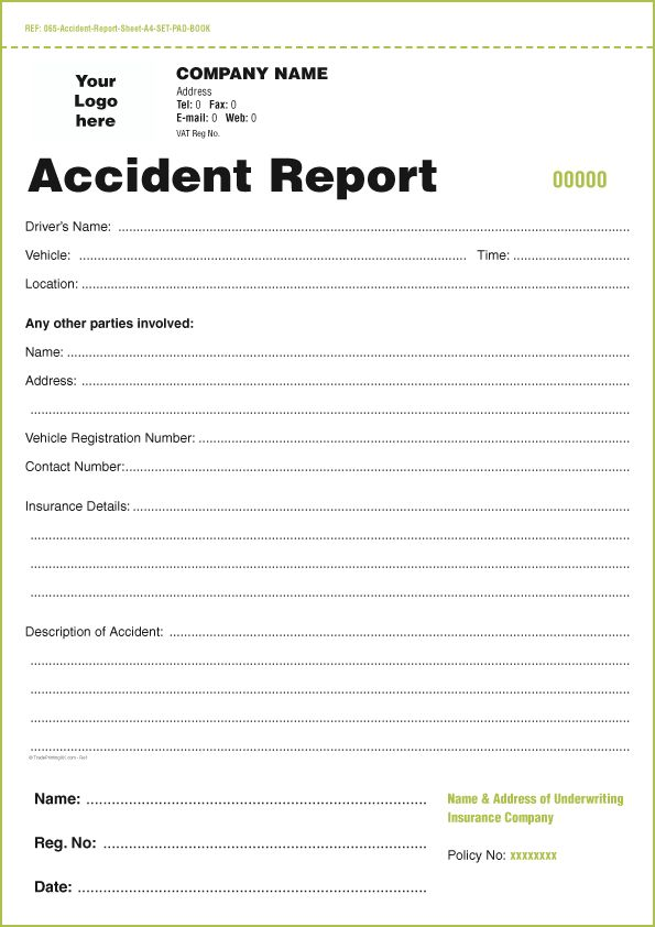 Free Accident Report Form Template] Free Incident Report Templates ...