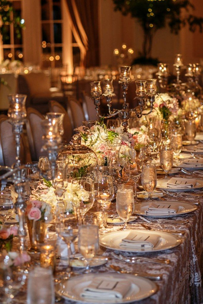 Dinner Party Wedding Part - 30: An Elaborate Table Arrangement Makes For An Elegant Dinner Party.