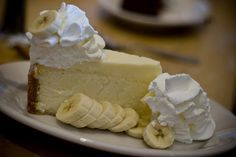 The Cheesecake Factory Banana Cream Cheesecake - If you are a fan of bananas & rich decadent yumminess you will LOVE it!