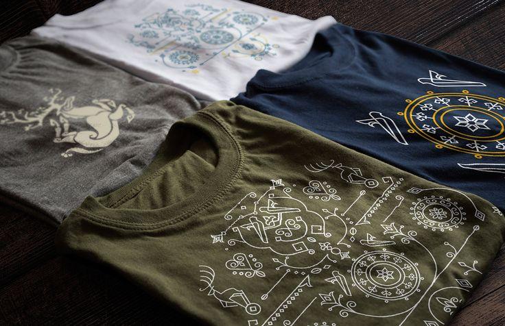 Ethno t-shirt design •  Дизайн футболки с алтайскими мотивами    by Mariia Filonenko on Behance