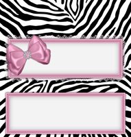 Pink Zebra Printable Candy wrappers, mini candy bar wrapper, invitation and mintbook set. Celebrate with personalized party favors and invitations using professionally designed templates that you can download, customize, and print.