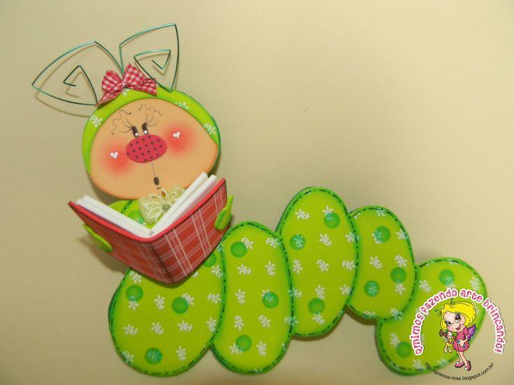 Qmimos fazendo arte brincando bichinhos para decorar for Decoracion con goma eva