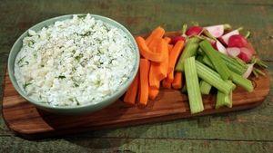 Lemon Cucumber Yogurt Dip Recipe | The Chew - ABC.com