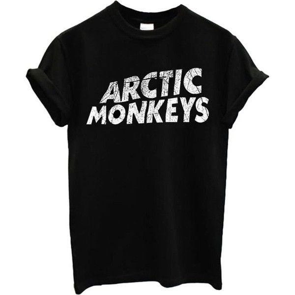 Arctic Monkeys Rock Band Men Women Unisex Top T Shirt at Amazon... ($19) ❤ liked on Polyvore featuring men's fashion, men's clothing, men's shirts, men's t-shirts and mens t shirts