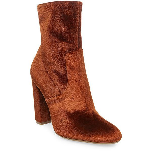Steve Madden Women's Edit Booties featuring polyvore, women's fashion, shoes, boots, ankle booties and orange