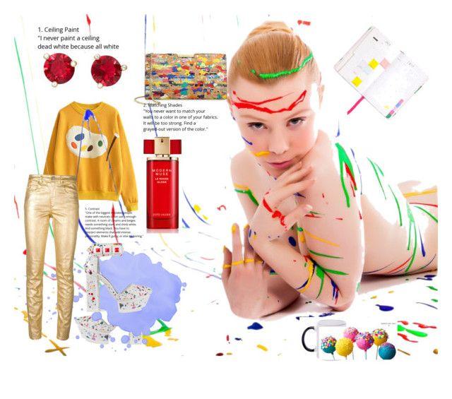 """#SplatIt"" by nancykou on Polyvore featuring Kat Maconie, Étoile Isabel Marant, Milly, Estée Lauder, Kate Spade and ban.do"