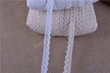 30Yards White and beige Cotton Lace Crochet Ribbon lace wholesale width 15mm .Lace Trim Edging Wedding(China (Mainland))