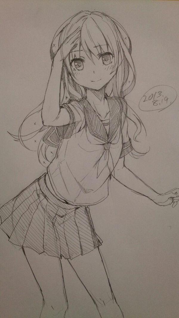 Anime girl drawing #anime art