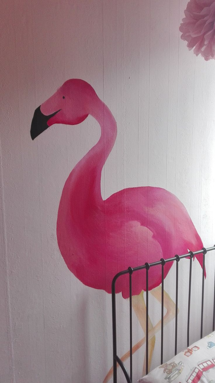 Flamingo, Roze, Project K, Pink, Tropical, Mural, Muurschildering, Art, Illustratie